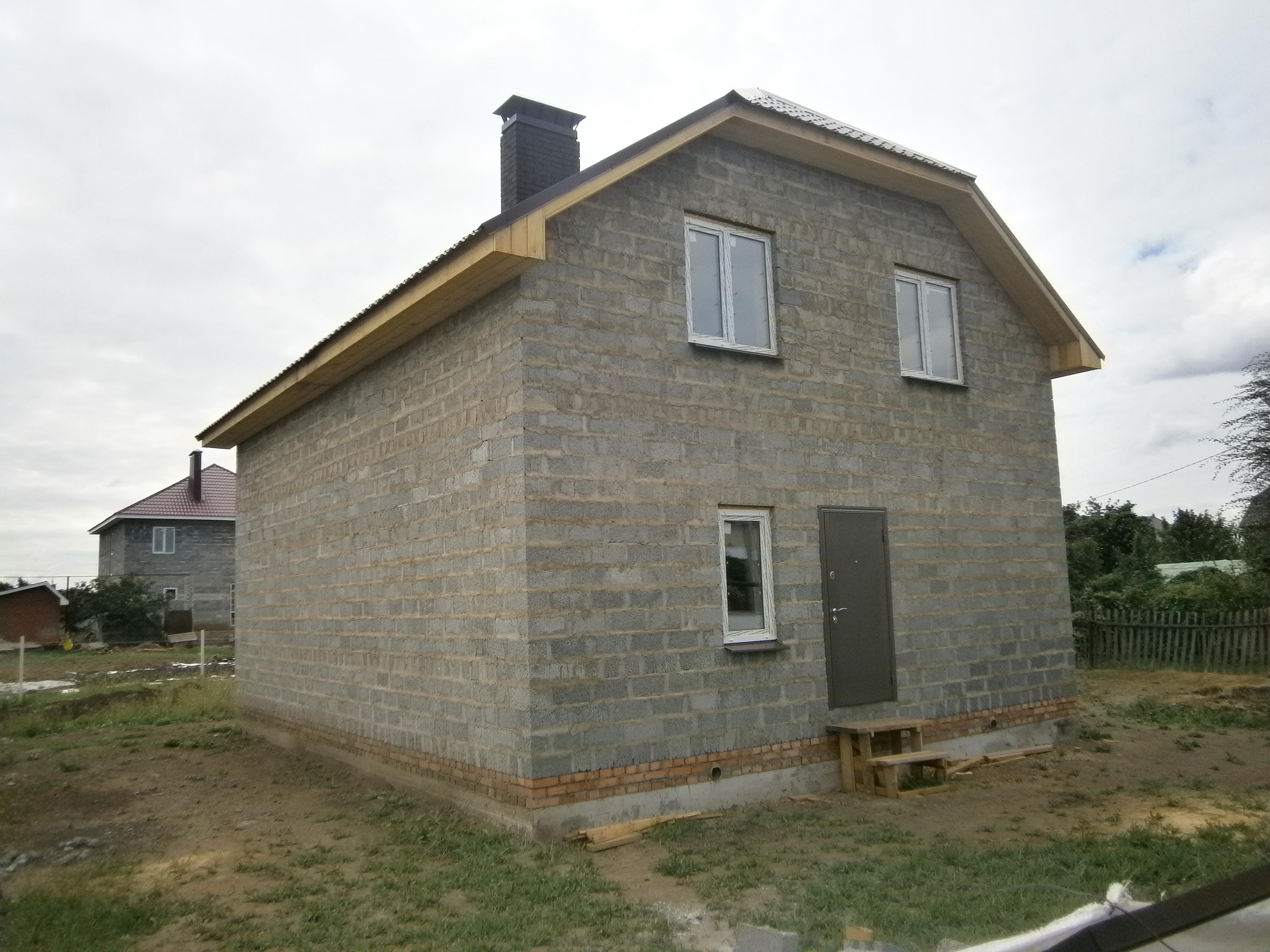 Дом для проживания из керамзитобетона растворы строительные декоративные