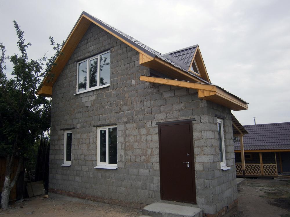 Дом из керамзитобетона с мансардой готовый бетон купить в чите